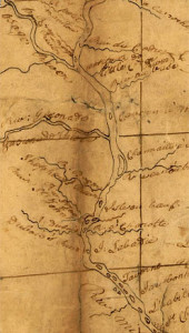 Lewis and Clark Map of the Missouri River