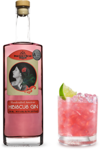 Hibiscus gin and drink